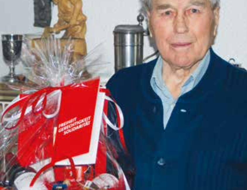 90 Jahre alt und seit 65 Jahren in der SPD               Josef Schuler
